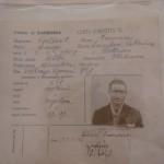 Carta d'identità di un minatore