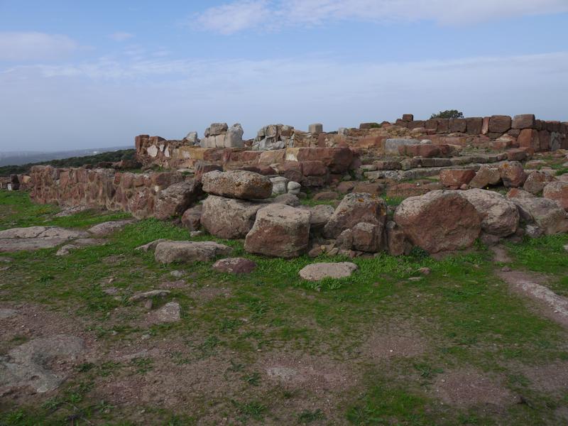 Veduta d'insieme del tempio di Astarte