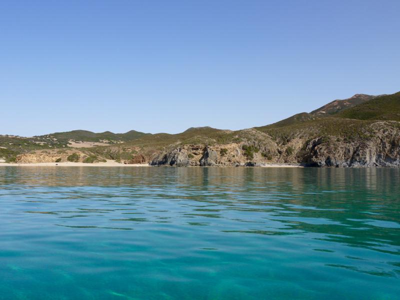 scivu spiaggia dal mare