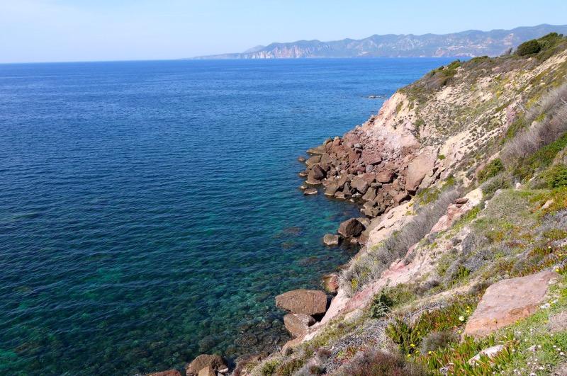 Paesaggio da Portoscuso a Fontanamare