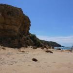 Rocce sulla spiaggia di Scivu